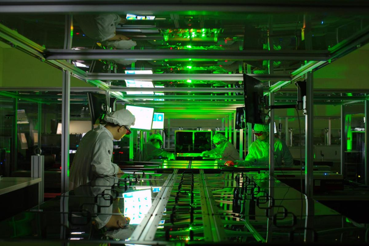 A researcher at work on a petawatt laser at the Center for Relativistic Laser Science (CoReLS) in the Republic of Korea