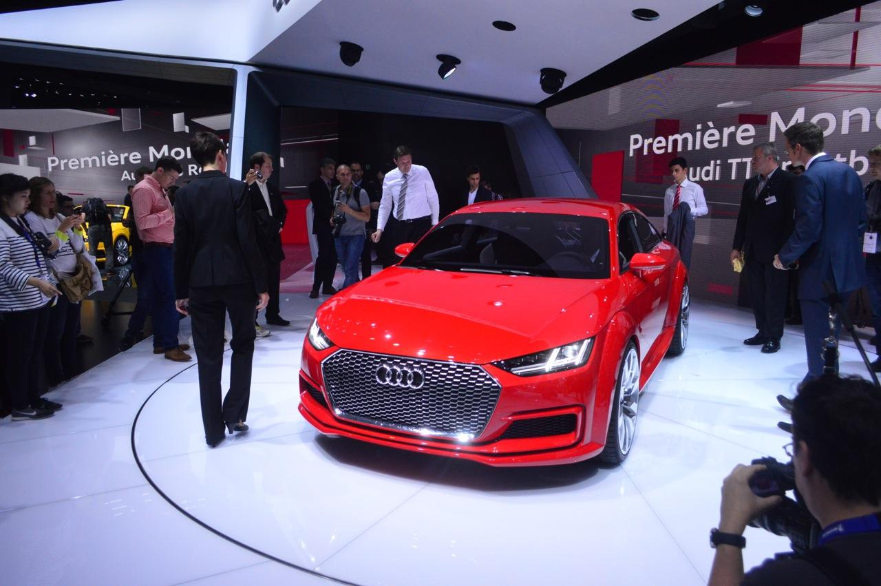 The Sportback's singleframe grille carries over from the standard TT (Photo: C.C. Weiss/Gizmag)