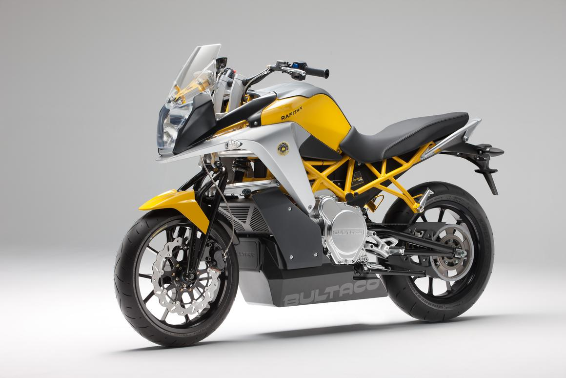 Bultaco's all-electric Rapitan, featuring a Hossack-inspired front suspension setup