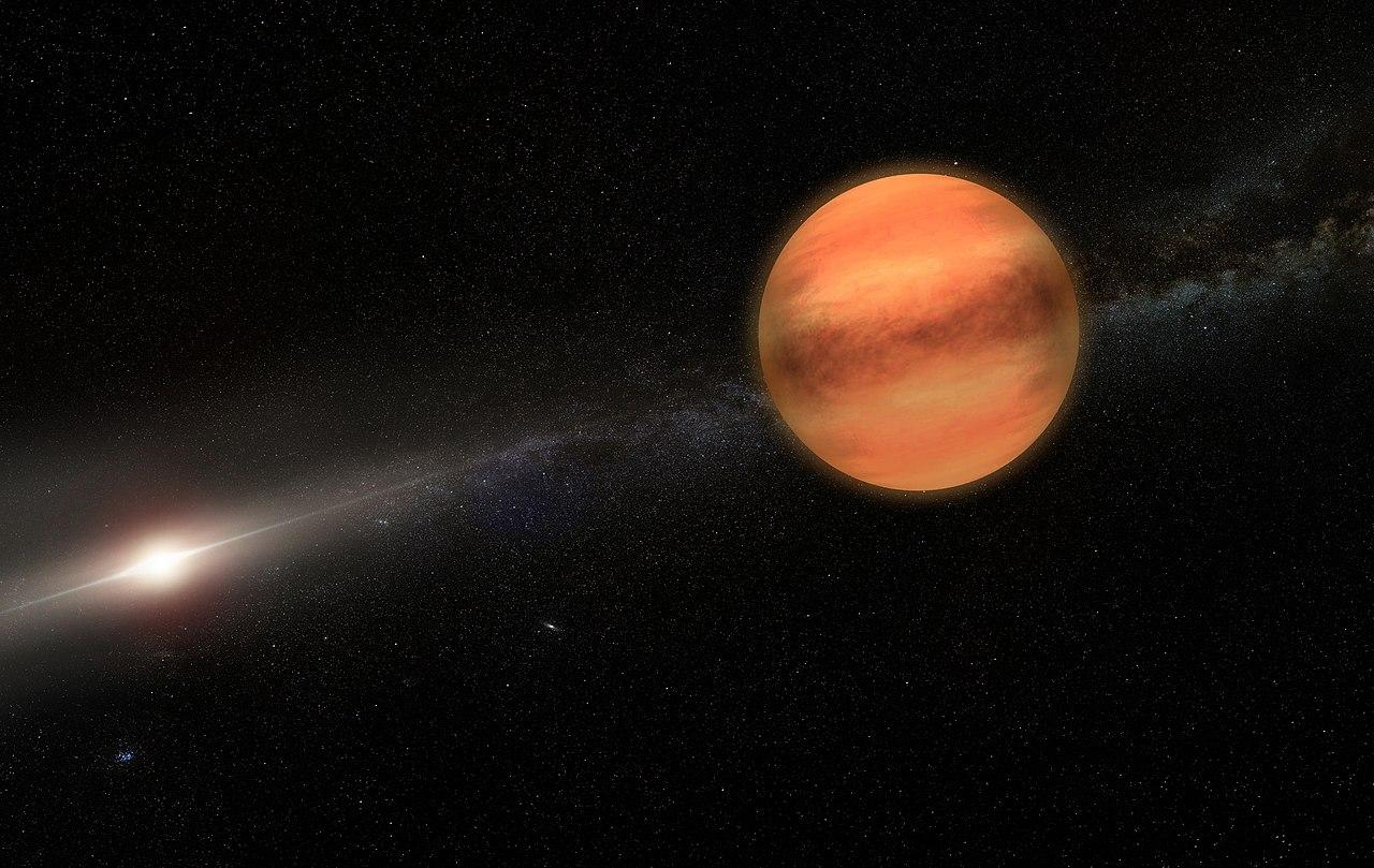 An artist's impression of the super-Jupiter exoplanet TYC 8998-760-1 b