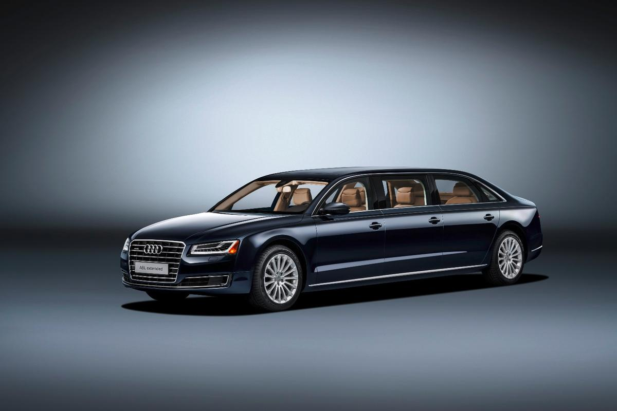 The Audi A8 L extended was built in response to an order from a wealthy European customer