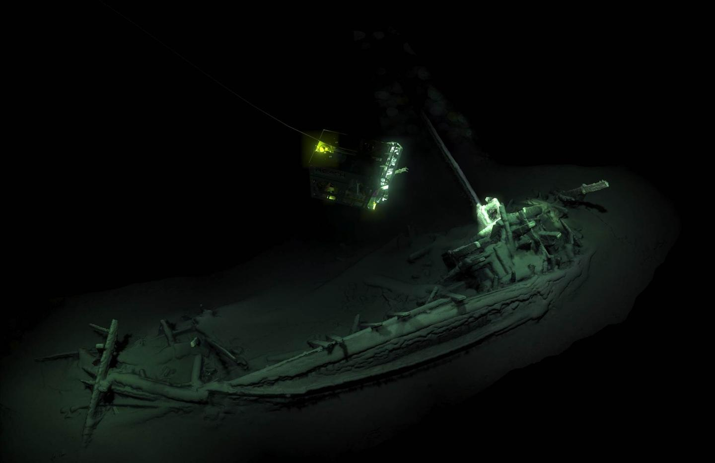 The shipwreck is located at a depth of over 2 km (1.2 miles)