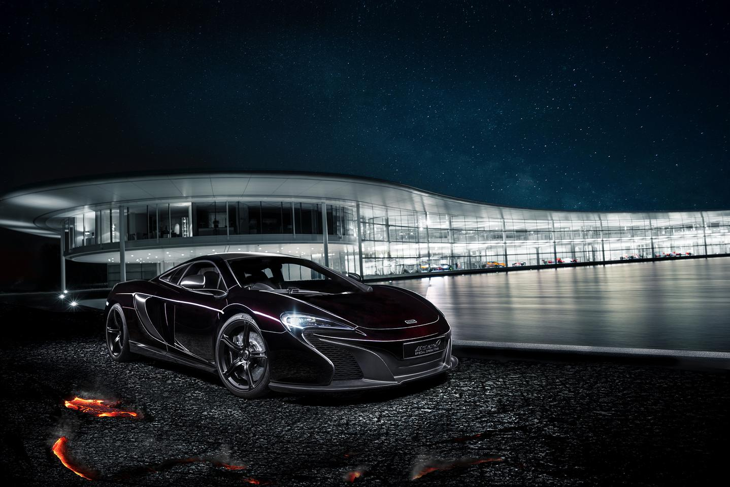 "Finished in a customized in-house paint called ""Agrigan Black"", the MSO 650S concept features both visual and aerodynamic enhancements to the car's exterior and a unique one-off cockpit"
