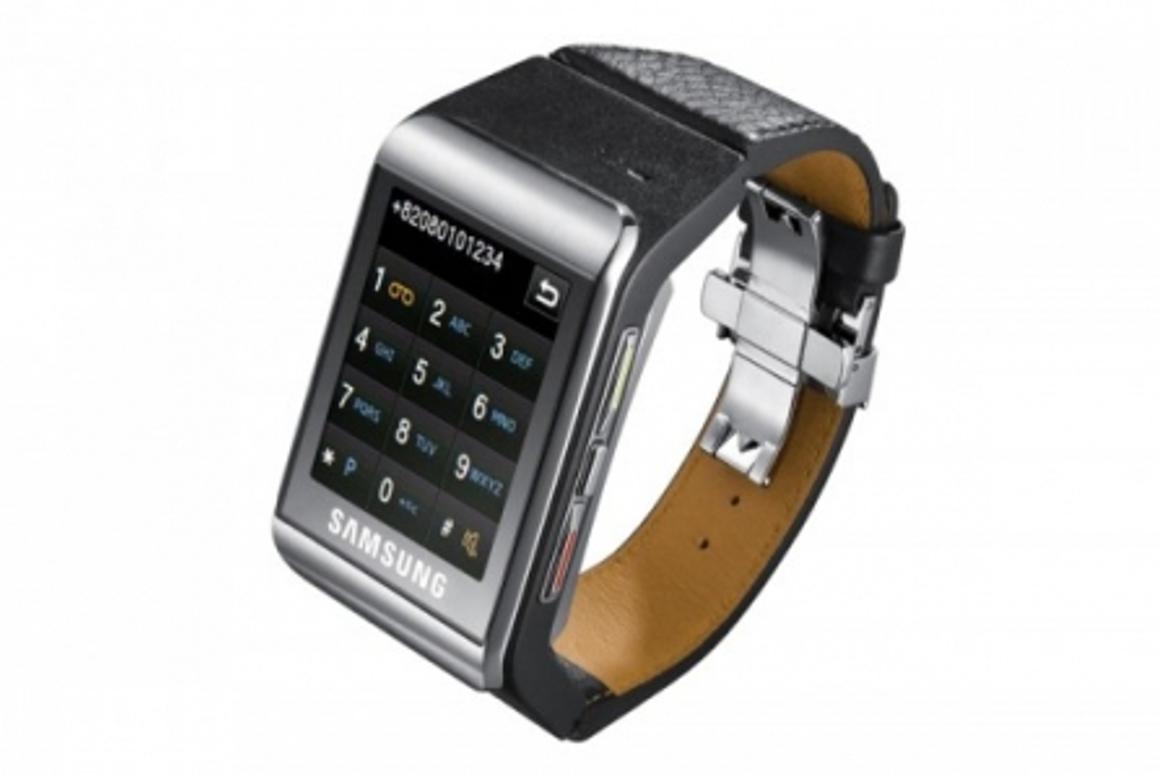 The Samsung S9110 watch phone