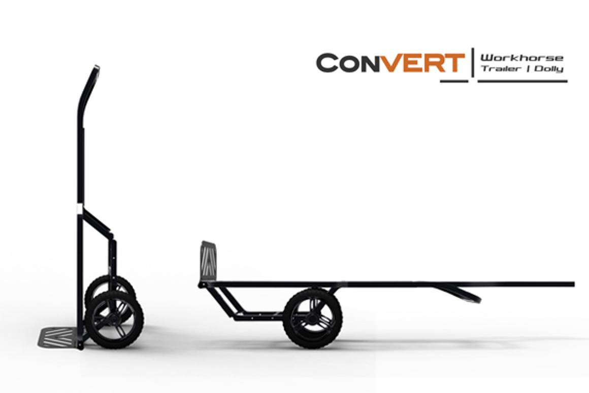 The Convert, in dolly and trailer modes