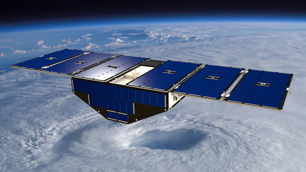 Artist's concept of a CYGNSS Satellite