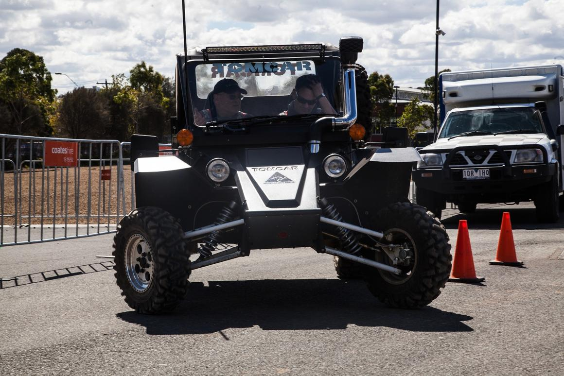 The Tomcar delivers its power to the rear wheels, cutting back on heavy four-wheel drive hardware (Photo: Nick Lavars/Gizmag.com)