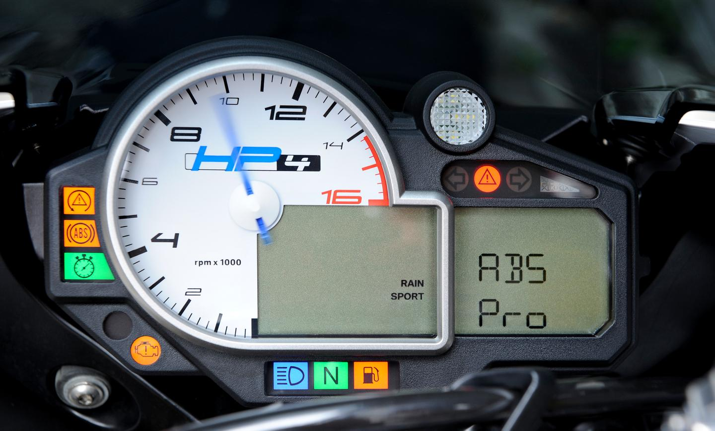 BMW HP4 dash running ABS Pro