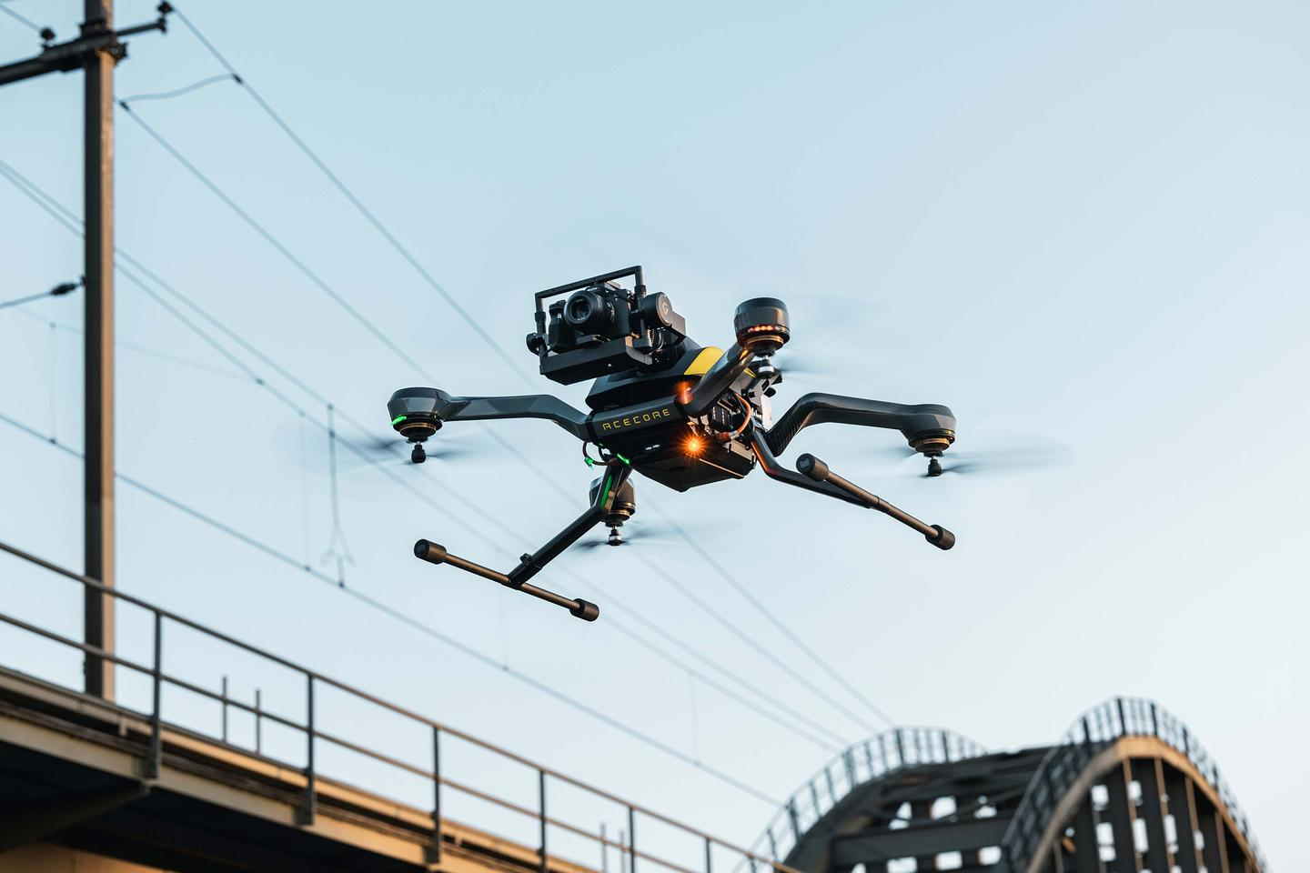 The Zoe Zetona industrial drone can be had in quadcopter or octocopter configurations