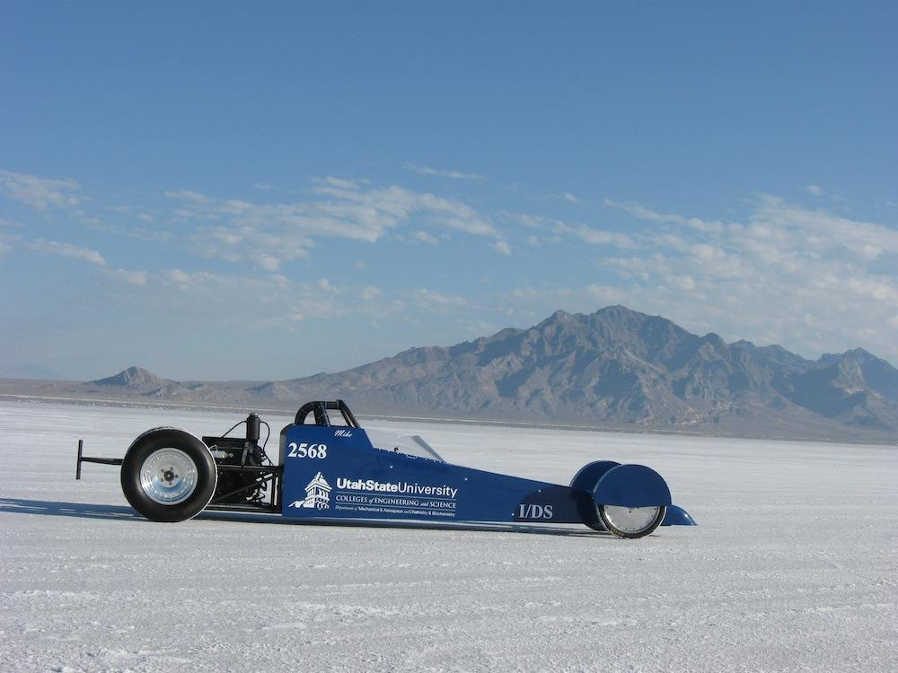 The biofuel used to drive the Aggie A-Salt Streamliner is produced by industrial waste from cheese production (Photo: USU)