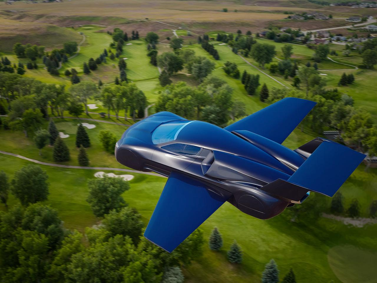 The Firenze Lanciare flying car would use jet engines and large fuel supplies to make long-range, high-speed air travel possible