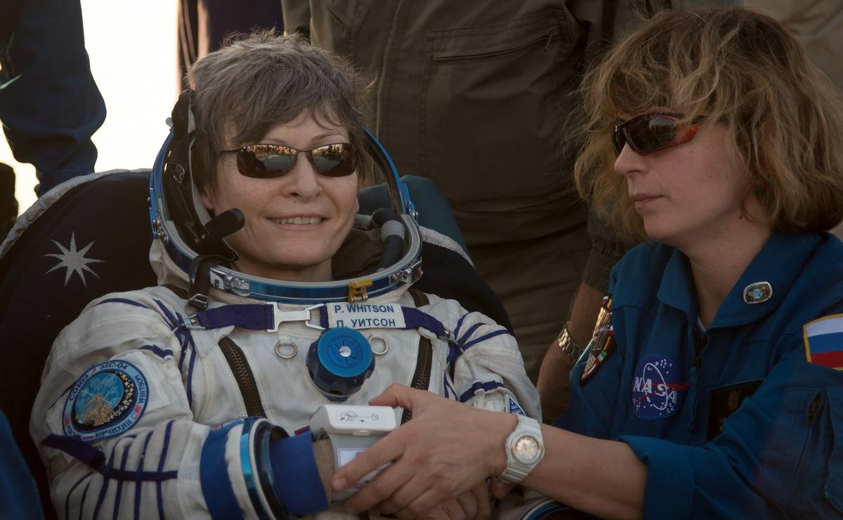 Whitson contributed to hundreds of scientific experiments in her time aboard the ISS