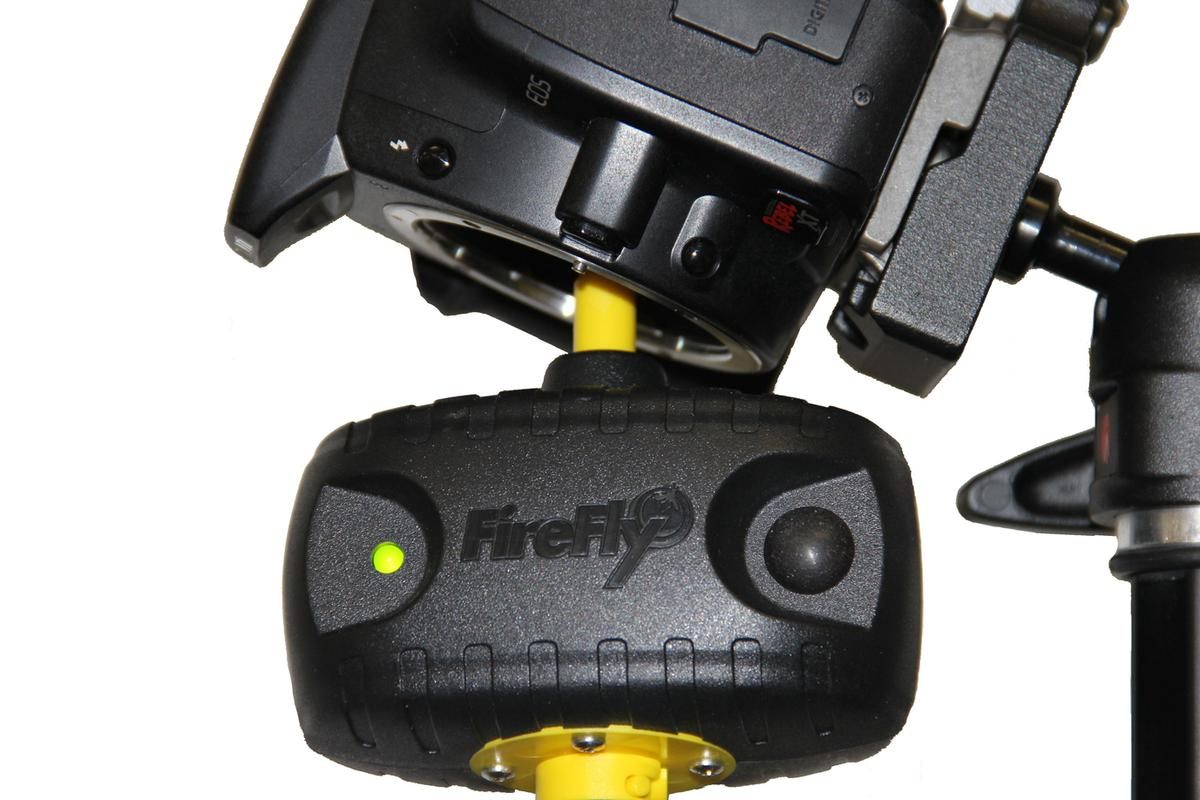 The FireFly cleans your camera sensor with ionized air
