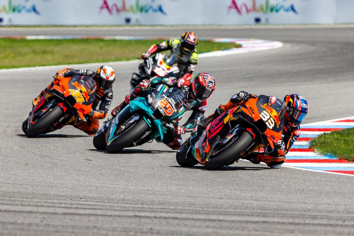 Were it not for a controversial crash, KTM looked set to pull off an unthinkable 1-2 win