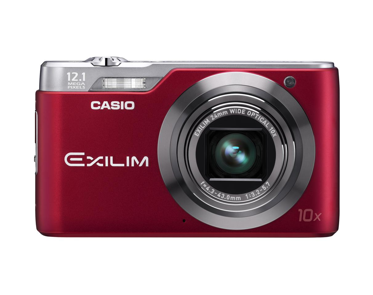 The EXILIM EX-H5 - 12.1 megapixel CCD sensor and a 24 mm to 240mm wide-angle lens with 10 x optical zoom