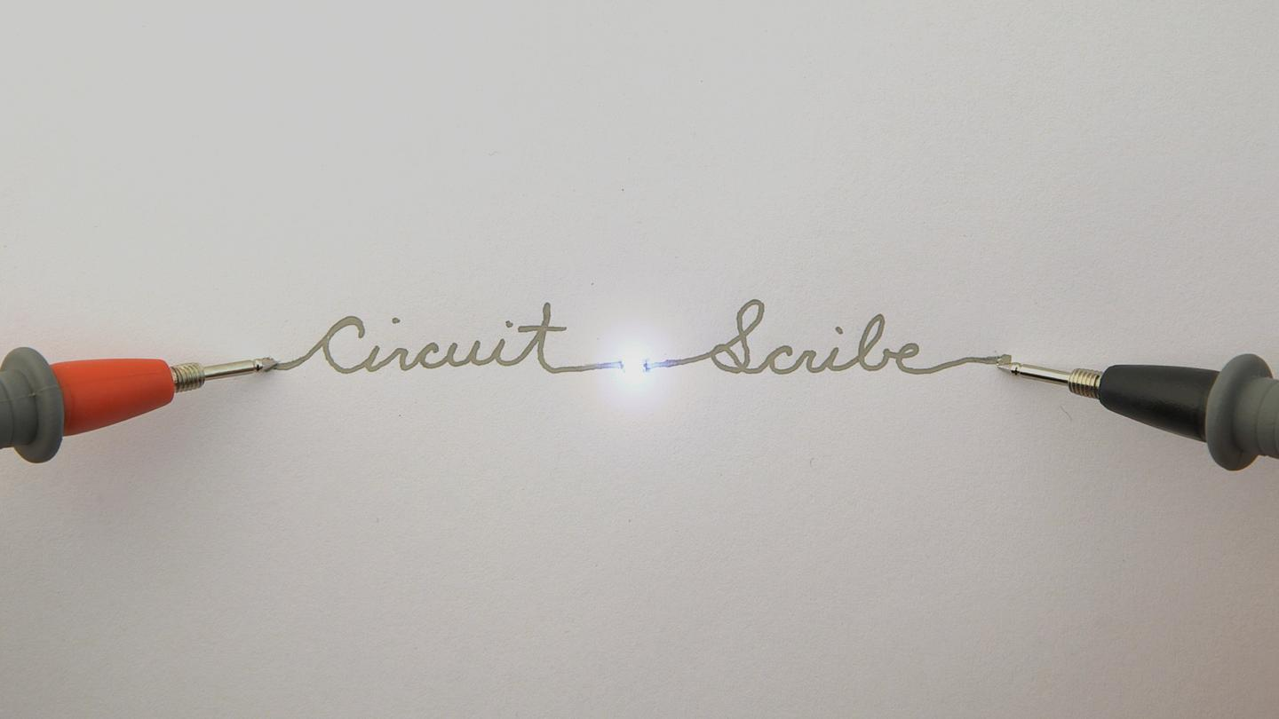 Circuit Scribe uses silver ink to draw circuits