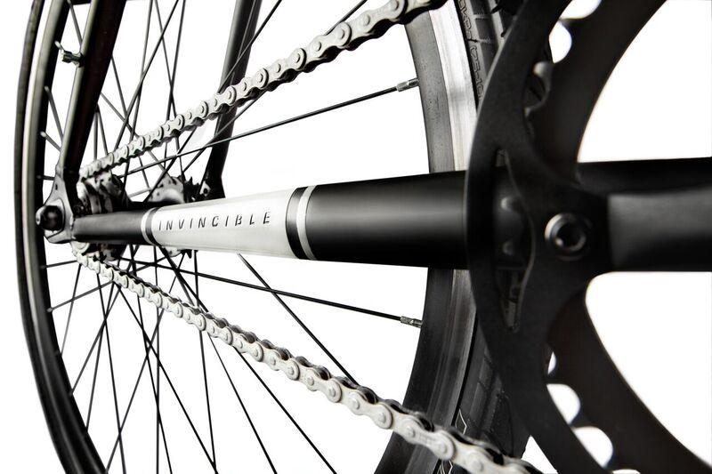 The Invincible bike features a rust-resistant zinc-coated chain