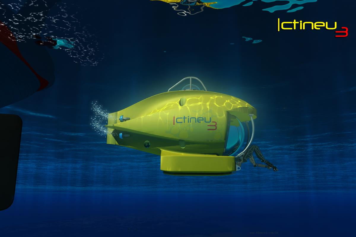 The ICTINEU 3 submersible can dive to depths of up to 1,200 meters