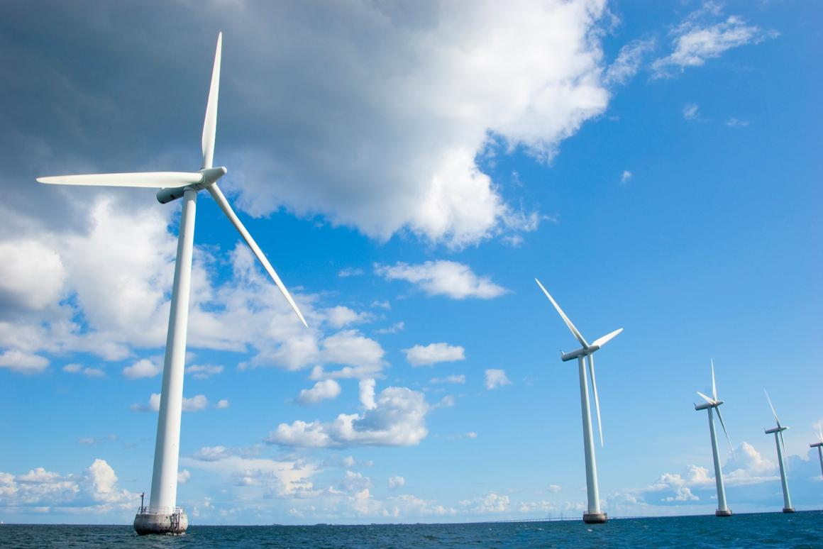 Offshore wind turbines in Denmark - Hitachi is developing a new downwind designto make the most of light offshore breezes