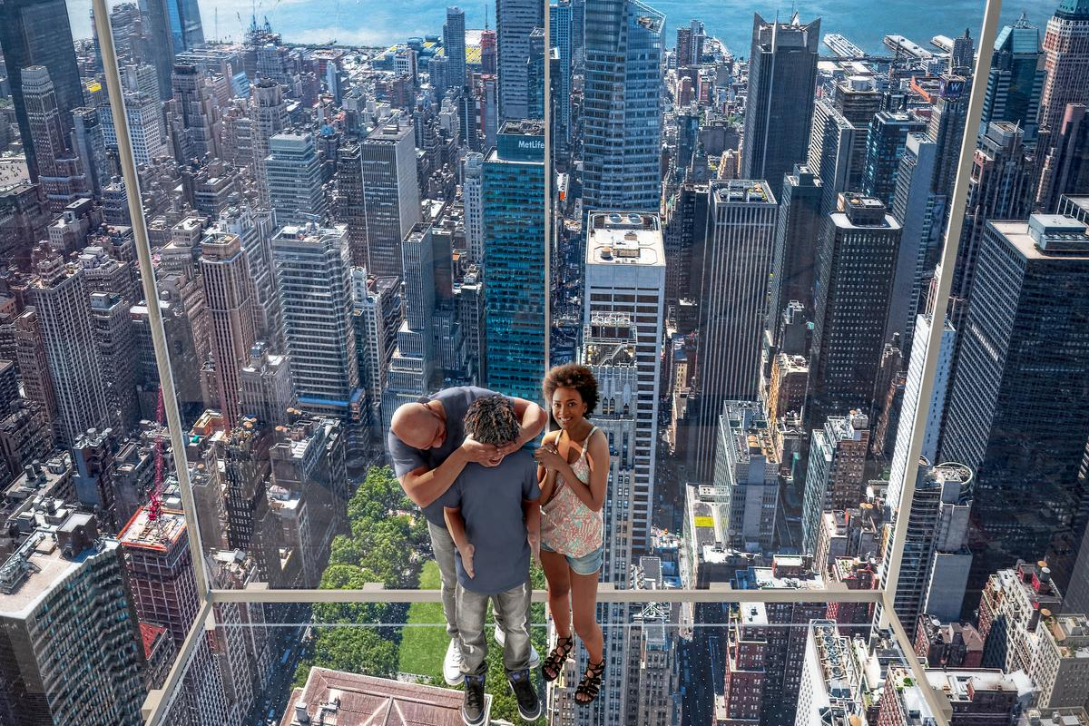For those brave enough to step out over the ledge, Summit One Vanderbilt's Levitation attraction will offer excellent views of NYC from over 1,000 ft (304 m) above the city streets