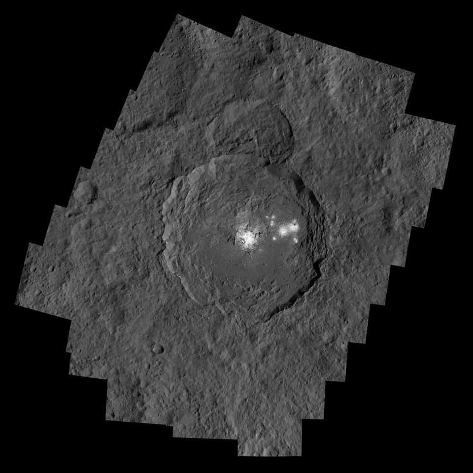 Composite image of Ceres' Occator crater