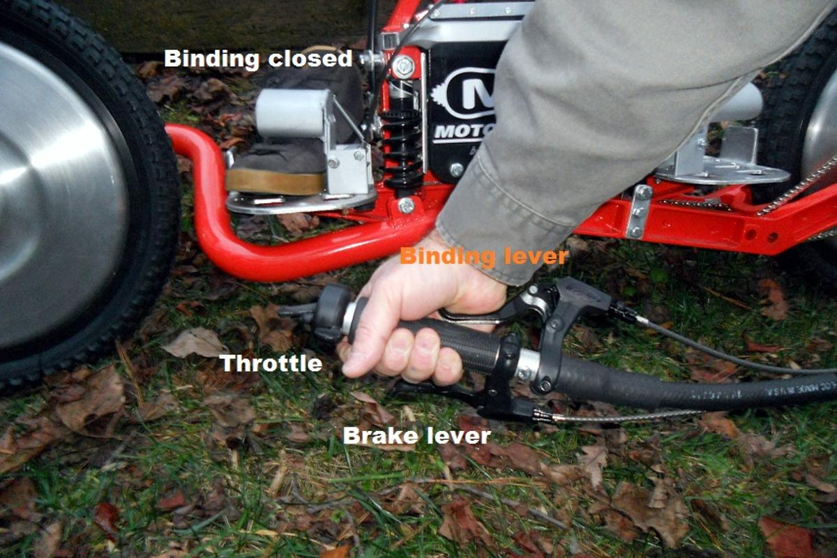 Prototype of the hook and release IRB system on a Motorcrossboard