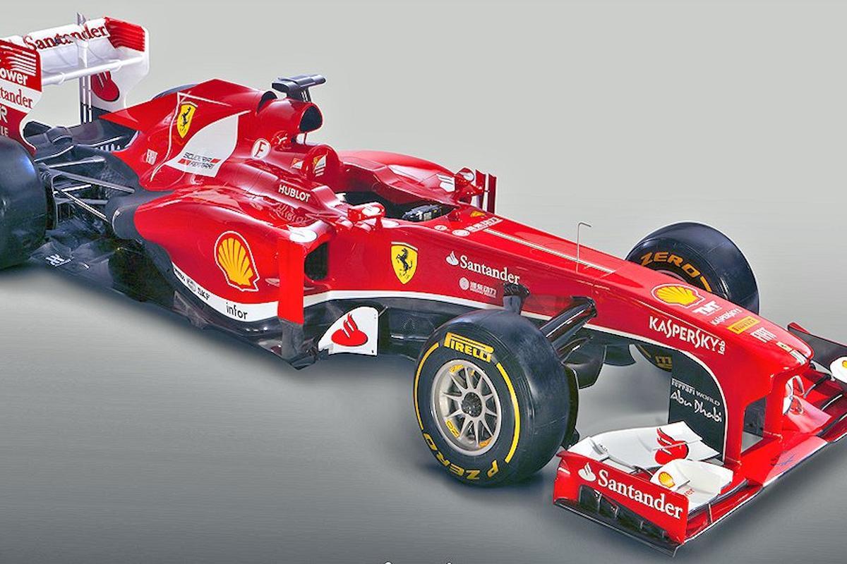 The 2013 Ferrari Formula One F138 racecar