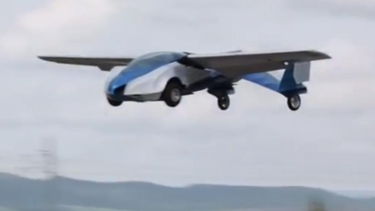 The Aeromobil flying car designed by Stefan Klein takes to the skies for the first time