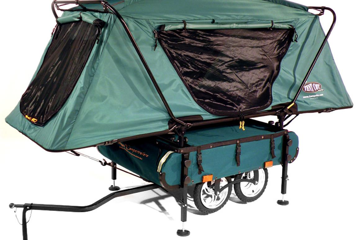 The Midget Bushtrekka from Kamp-Rite is a really rather handy-looking tow-along tent-cum-bicycle trailer for extended off-road cycling trips - but is it up to the job?