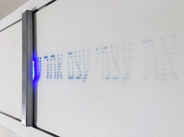 The Confession Machine uses UV LEDs to print disapearing messages onto photosensitive paper
