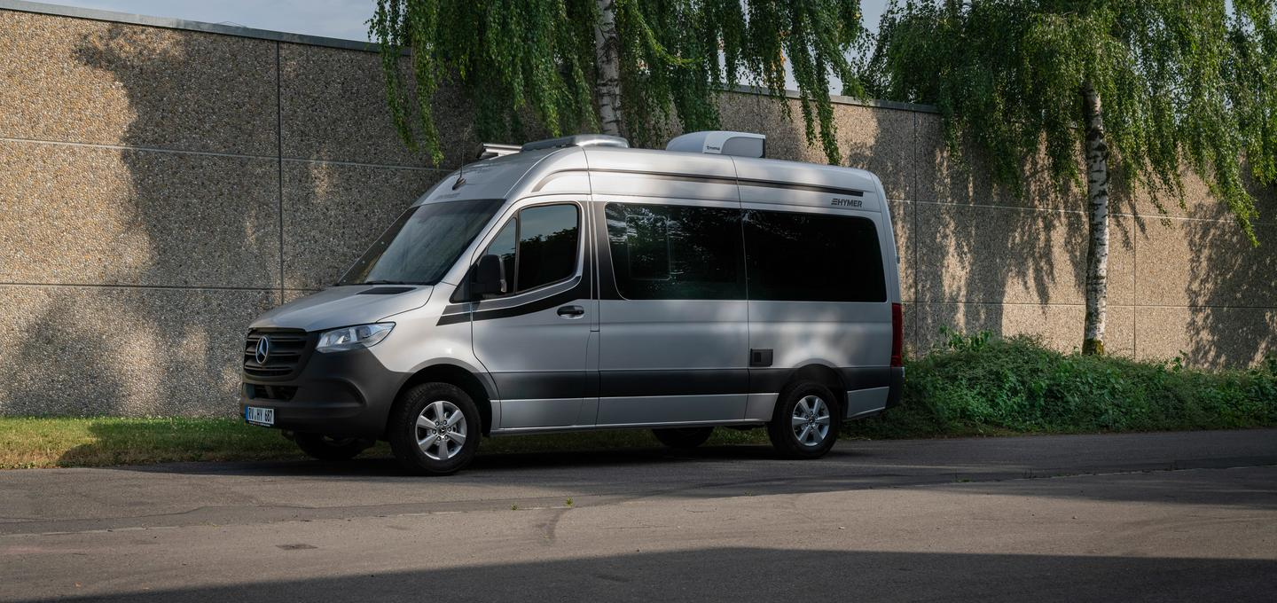 Hymer makes the DuoCar S a little less conspicuous with the tinted windows, simple color scheme and minimal exterior ports and flaps