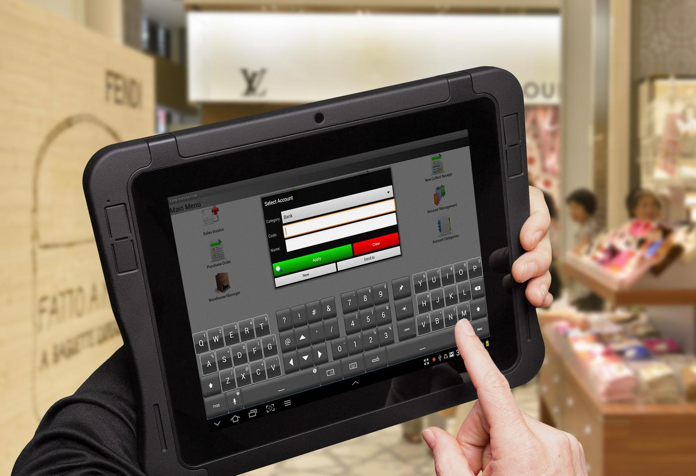 The Crossfire Pro modular business tablet from Entegra Technologies