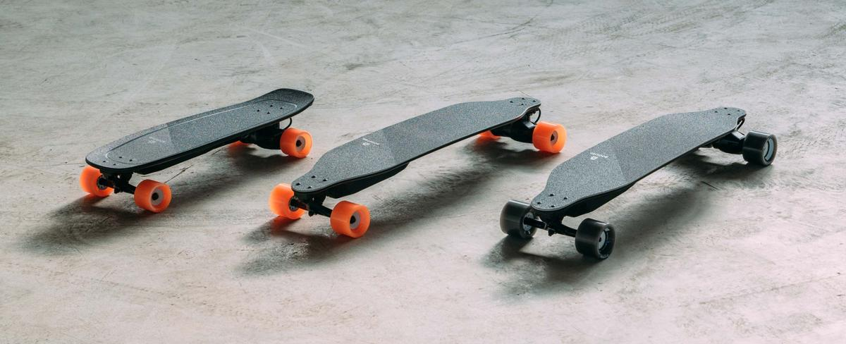On both the Stealth and Mini X electric skateboards, Boosted Boards has swapped its trademark orange wheels for gray