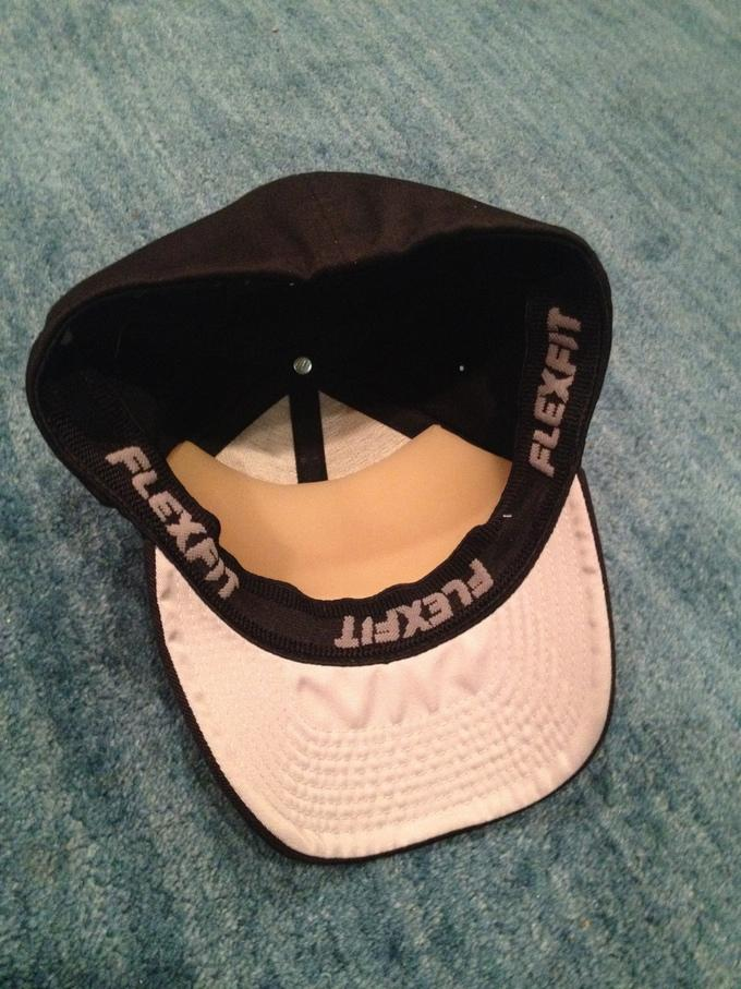 The ball cap's ballistic insert covers the front 1/3 of the hat