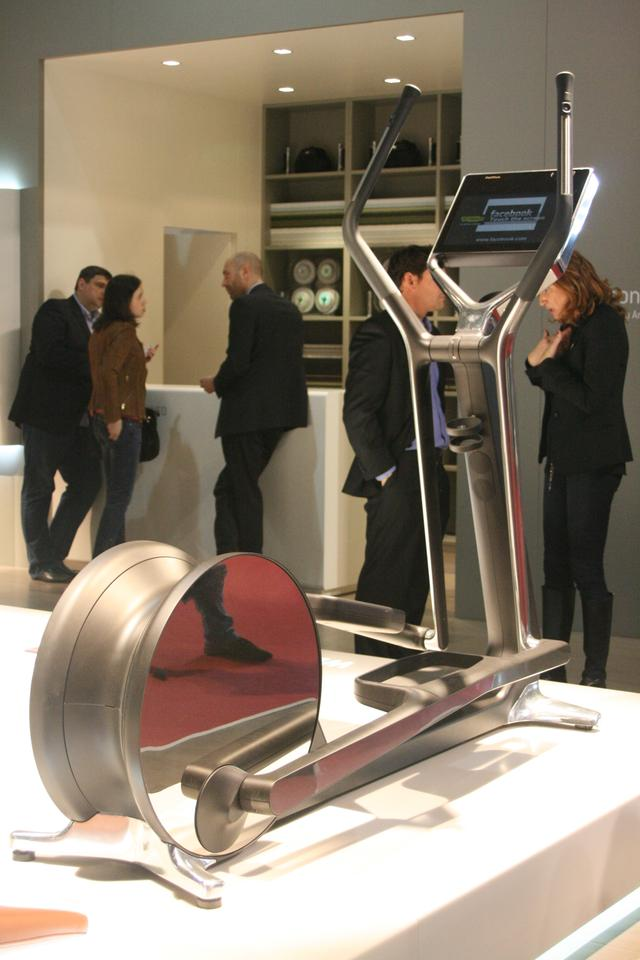 Technogym launched its CROSS personal trainer during the Salone del Mobile 2012 (image: Bridget Borgobello/Gizmag)