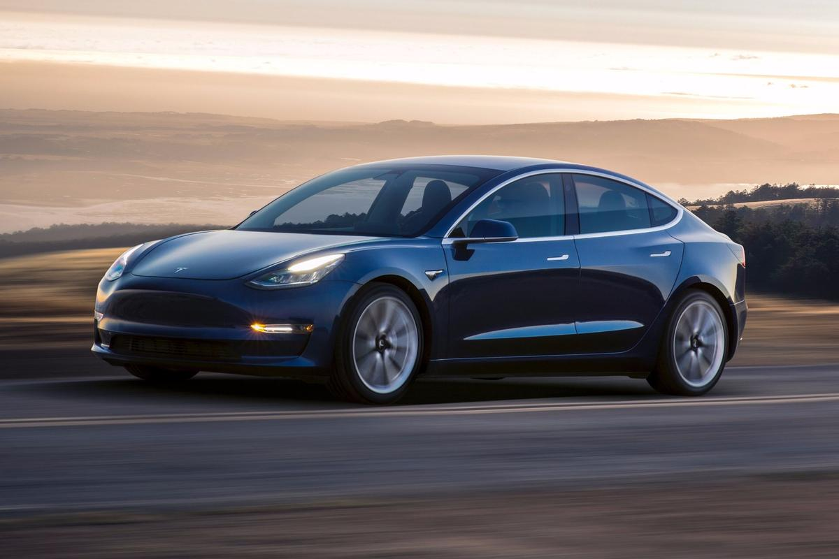 The production Tesla Model 3