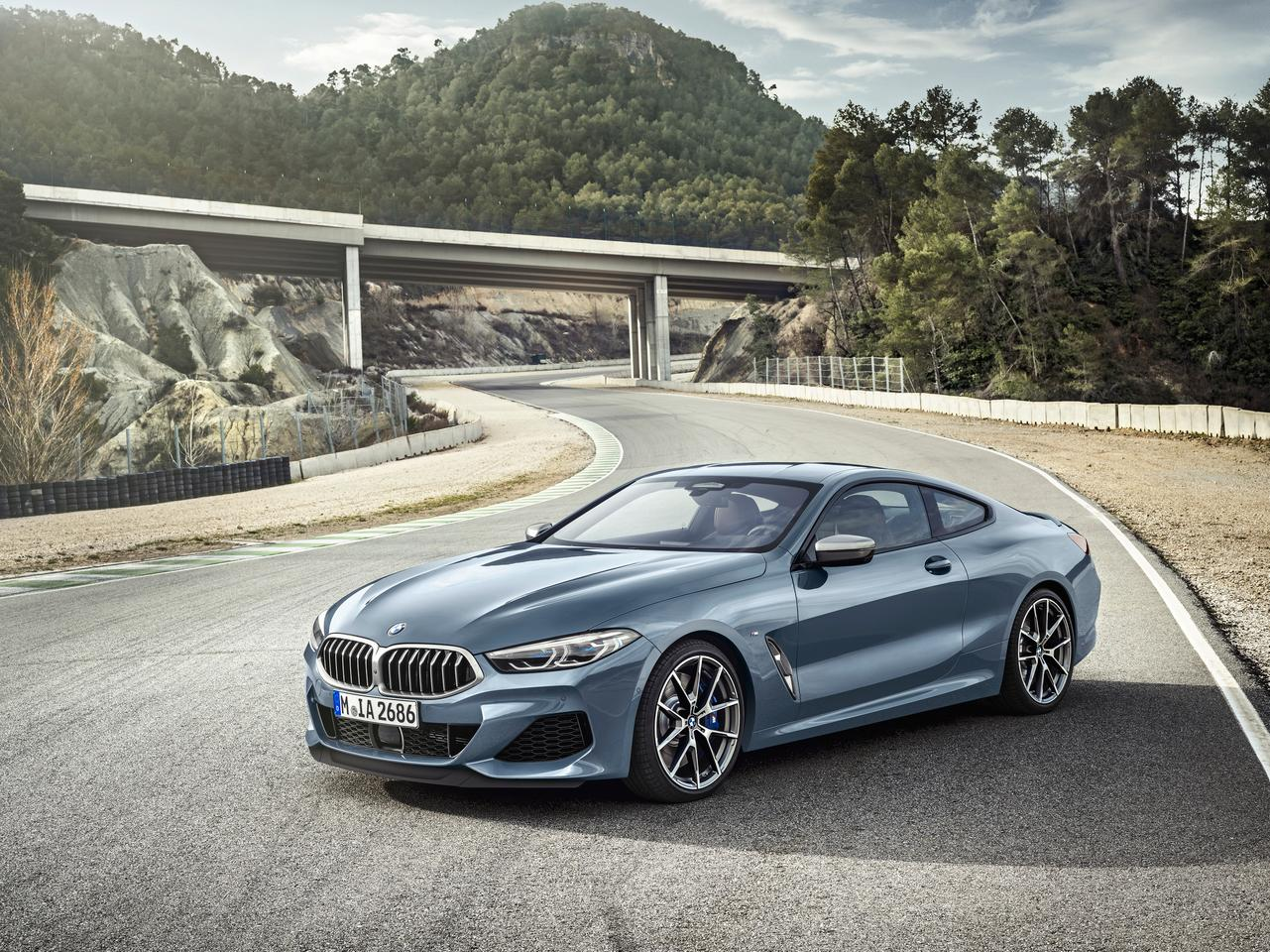The production BMW 8 Series Coupe is a little less edgy than its conceptual was
