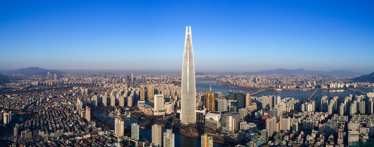 Lotte World Tower, byKohn Pedersen Fox Associates, has been declared the world's best skyscraper byinformation specialist Emporis during its annual Skyscraper Awards