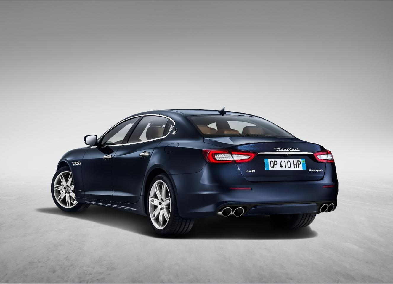 The new Maserati Quattroporte has been subtly restyled outside