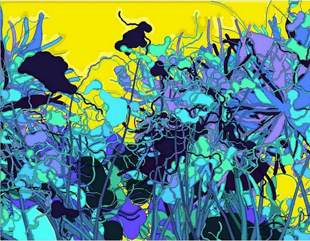 040502 is a 2004 painting of pigment on paper by the robotic, artificially intelligent painter AARON