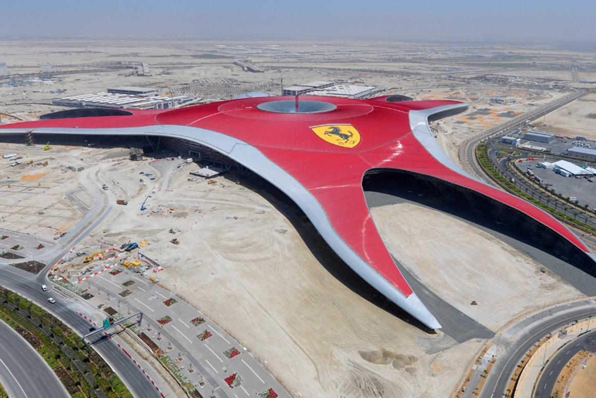 Ferrari World Abu Dhabi will be the biggest indoor theme park in the world
