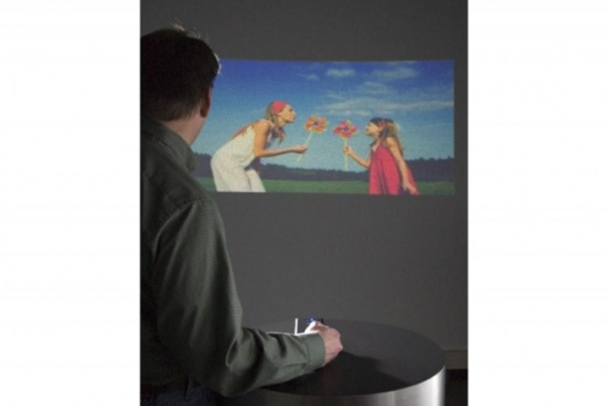 Microvision's pico projector prototype
