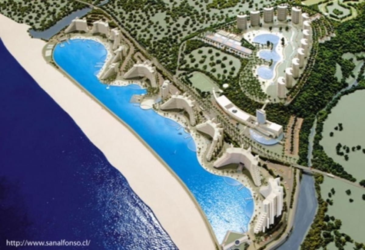 The monster pool at the San Alfonso Del Mer resort in Chile