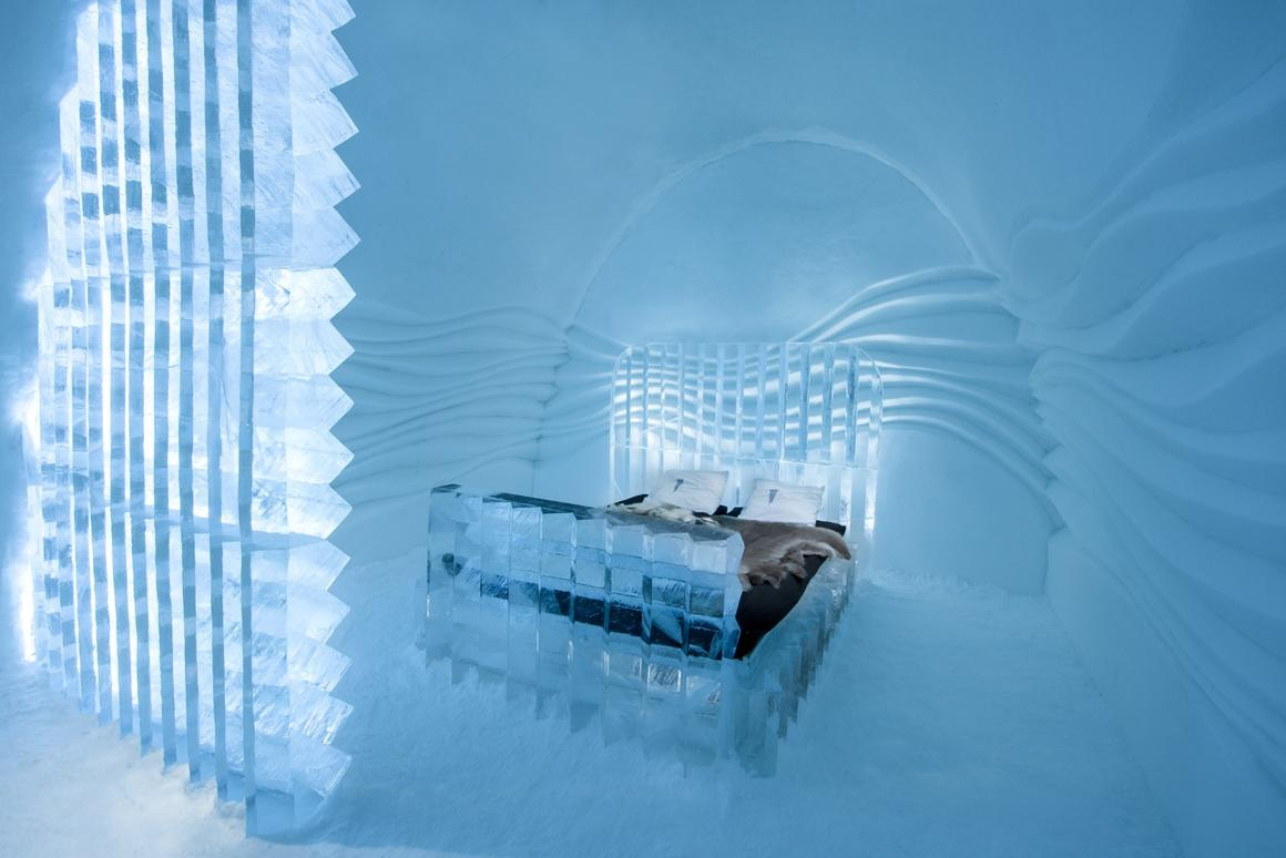The Icehotel's Eye Suite by Nicolas Triboulot & Cedric Alizard