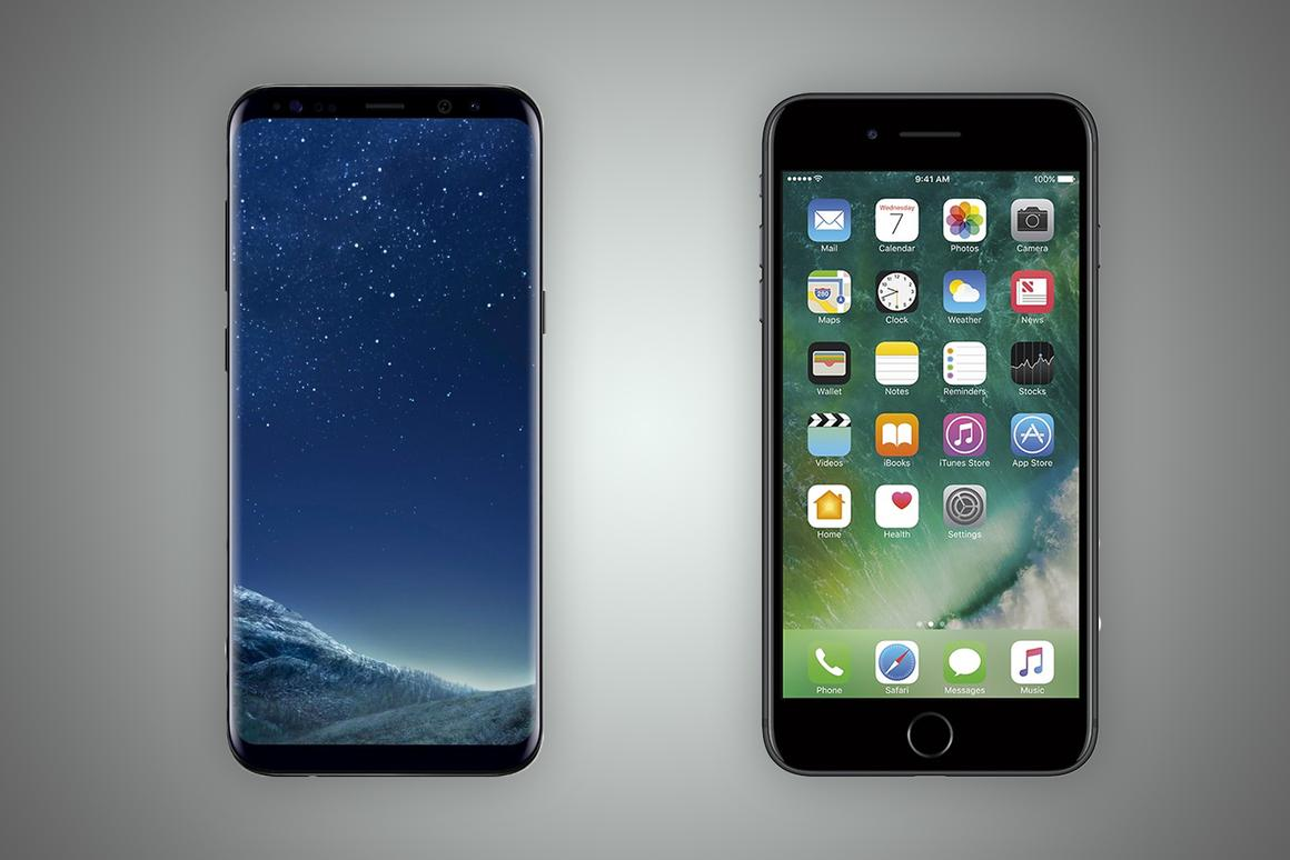 New Atlas compares the features and specs of the Samsung Galaxy S8+ (left) and Apple iPhone 7 Plus