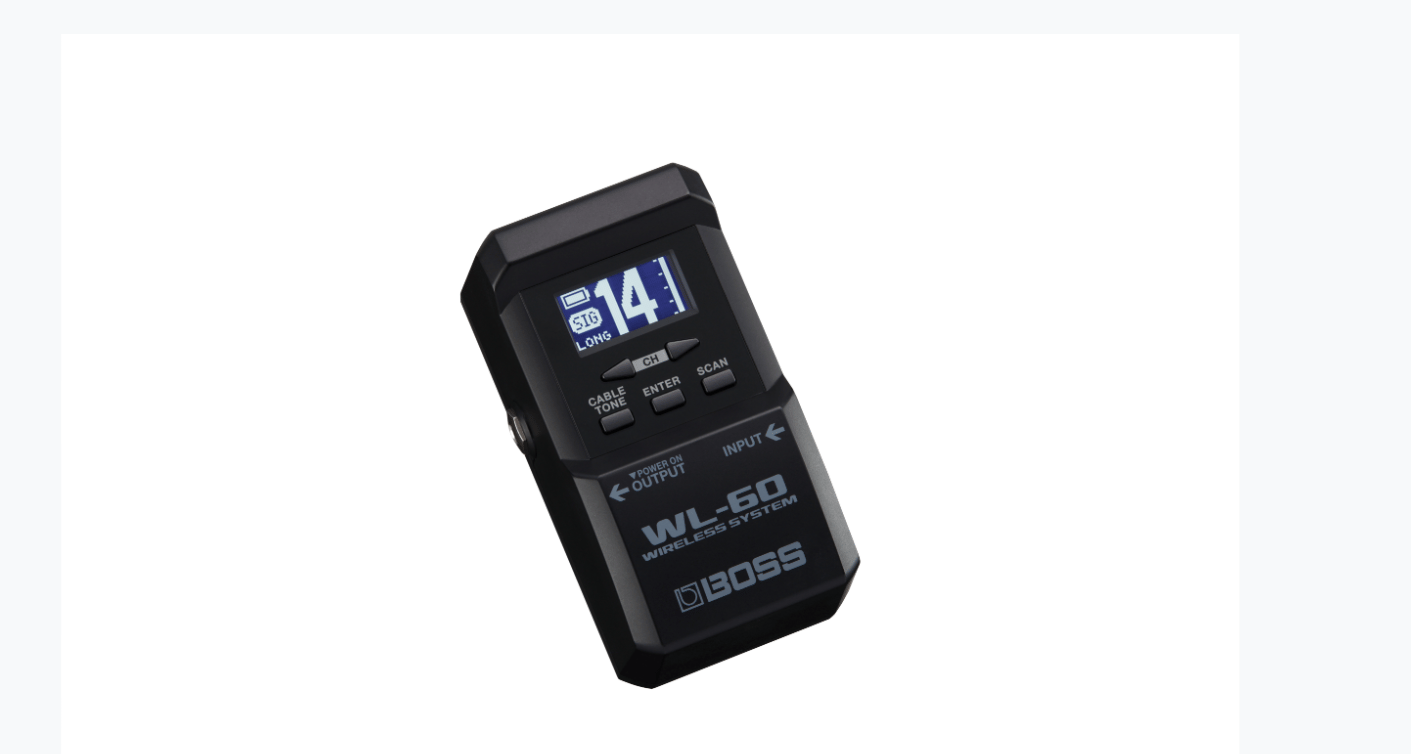 The WL-60 receiver has about the same dimensions as a Boss compact pedal