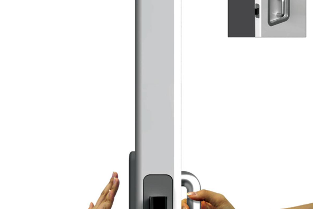 """The design offers a handle to the """"Pull"""" side and a panel to the """"Push"""" side offering a more intuitive answer (Imaget: Jeon Hwan Soo)"""