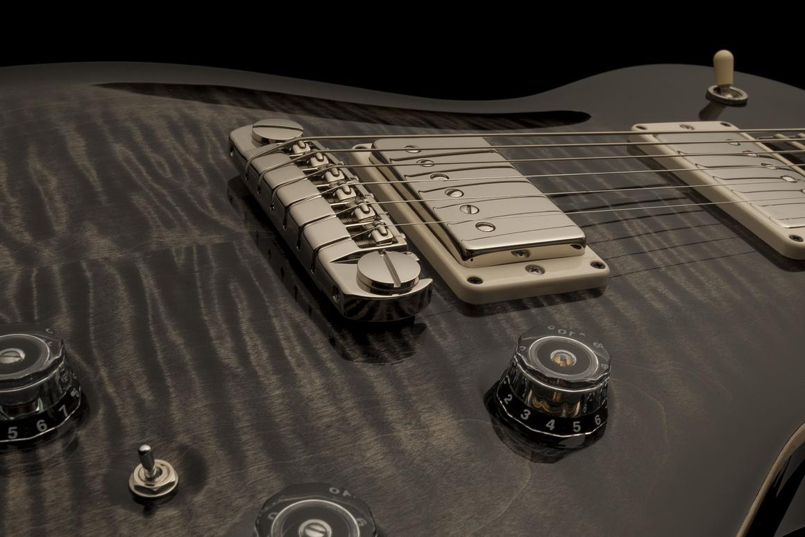 The PRS P245 short-scale single-cutaway guitar