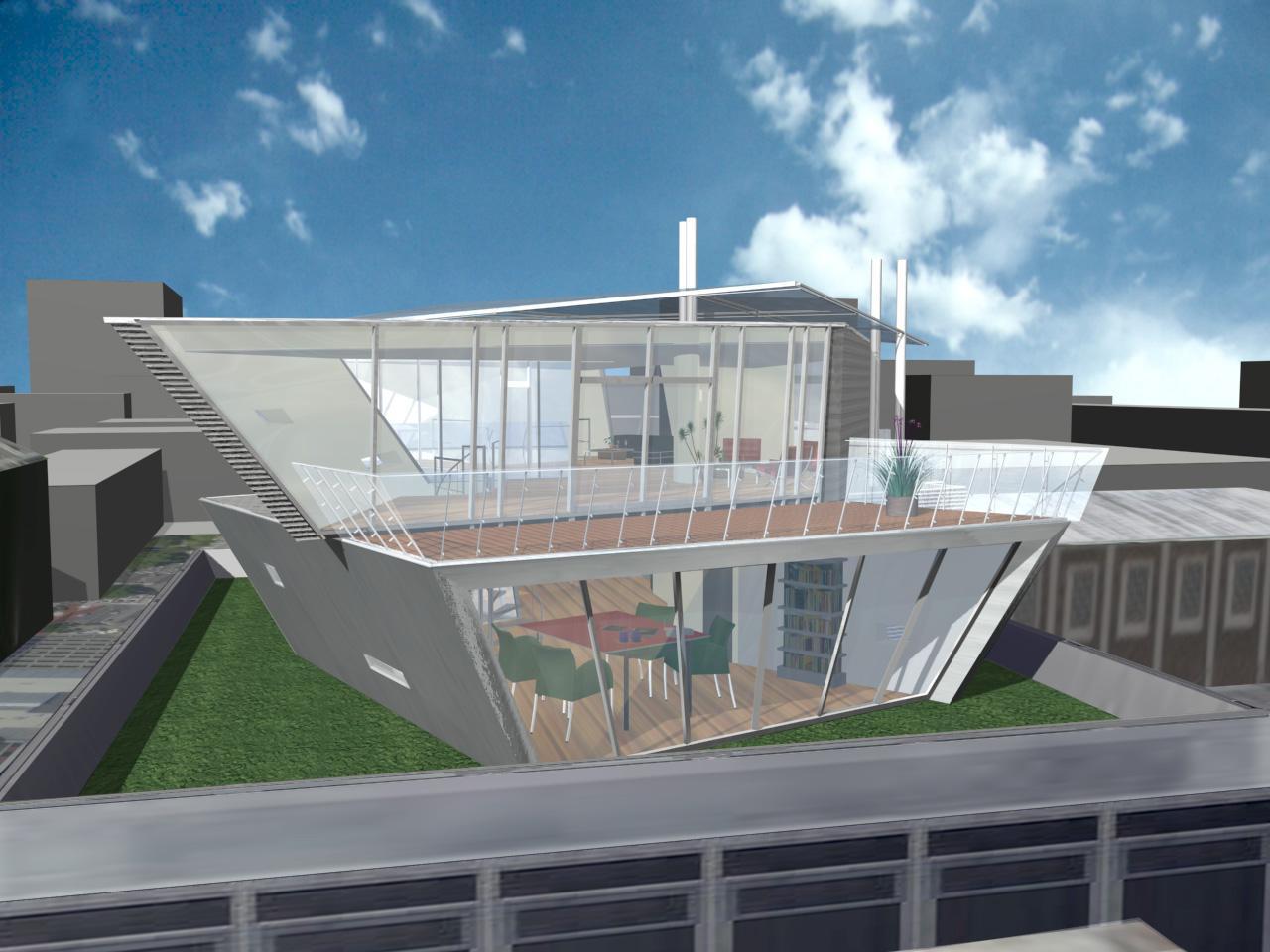 Jos de Bruin developed a tool for algorithmically generating penthouse designs based on a high-level specification (Image: Artificial Design/Jos de Bruin/Archipel Ontwerpers)
