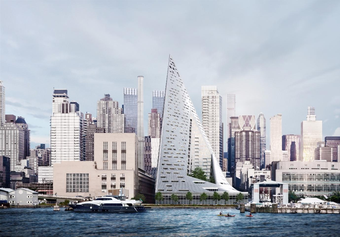 "Bjarke Ingels Group describes Via 57 West as ""a hybrid between the European perimeter block and a traditional Manhattan high-rise"""